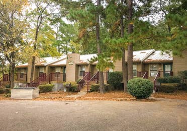 View of property building at Piney Shores Resort in Conroe, Texas