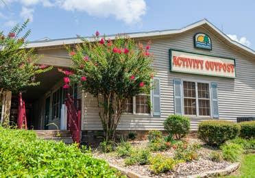 Exterior shot of Activity Center at Villages Resort in Flint, Texas.