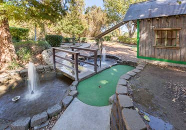 Outdoor mini golf course at Piney Shores Resort in Conroe, Texas