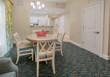 Dining room in a villa at South Beach Resort