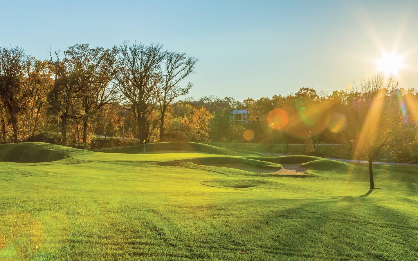 Outdoor golf course at Fox River Resort in Sheridan, Illinois