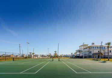 Tennis courts at Galveston Seaside Resort