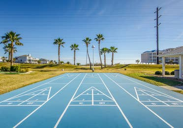 Sports courts at Galveston Seaside Resort.