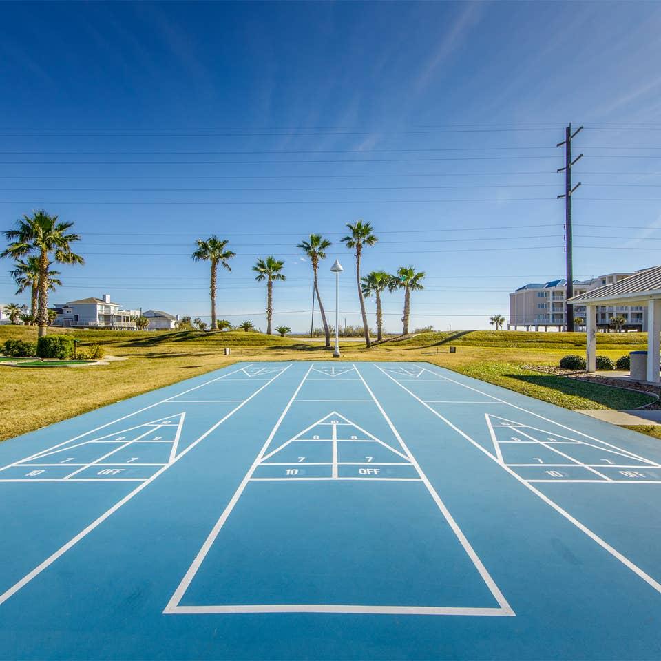 Sports courts at Galveston Seaside Resort.