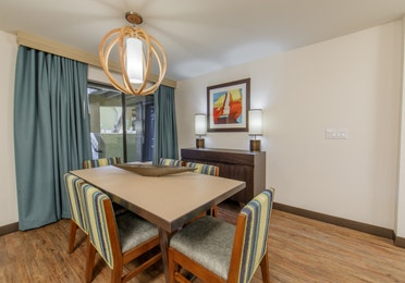 Dining room table with four chairs in a two-bedroom villa at Scottsdale Resort