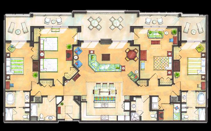 River Island four-bedroom villa floor plan