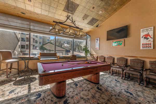 Billiards room at Tahoe Ridge Resort in Stateline, NV