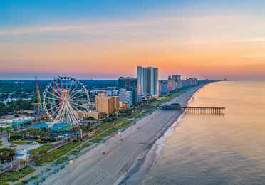 Aerial view of Broadway at the Beach in Myrtle Beach, SC