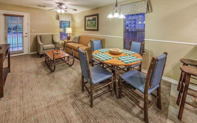 Dining room in a two-bedroom villa at Villages Resort
