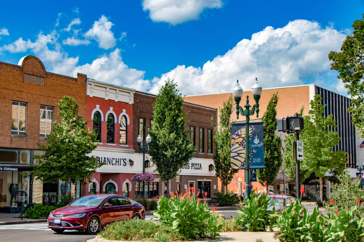 Downtown shopping district of Ottowa, IL.