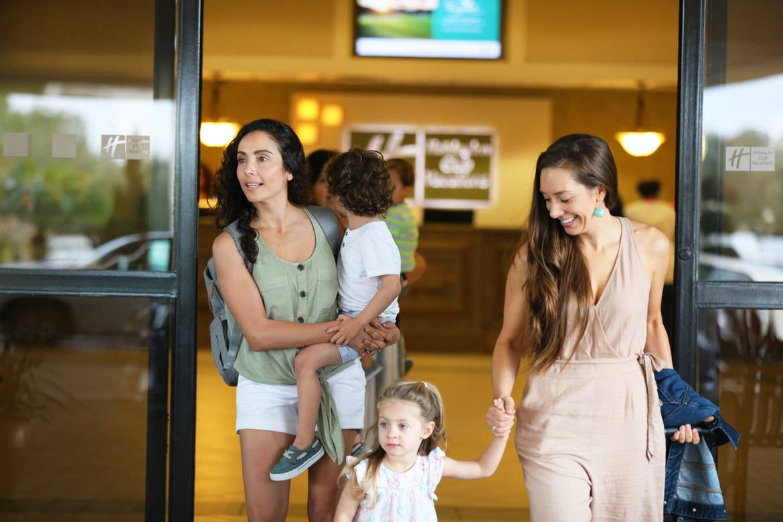 Raff's family leaving check in