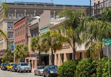 Strand Historic District near Galveston Seaside Resort.