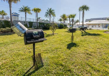 Barbecue grills at Orlando Breeze Resort in Florida.