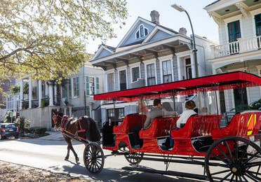 Royal Carriages tour around New Orleans, Louisiana