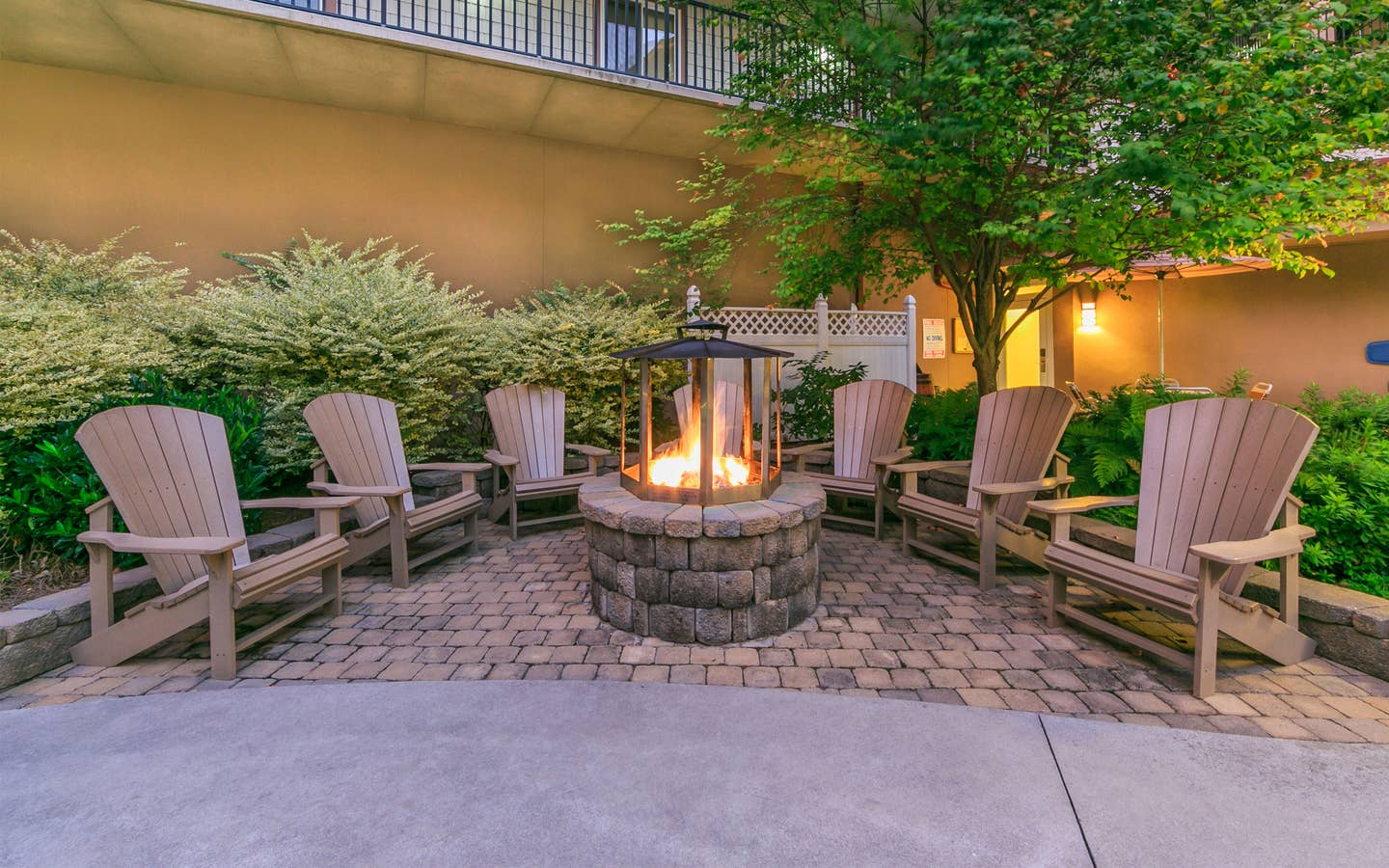 The fire pit at Smoky Mountain Resort