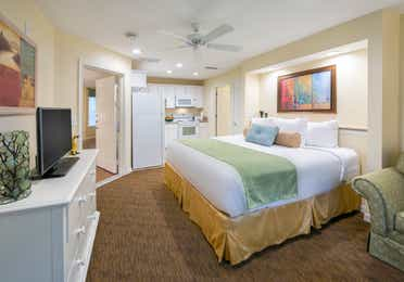 Bedroom with a kitchenette in a three-bedroom lock-off at Villages Resort