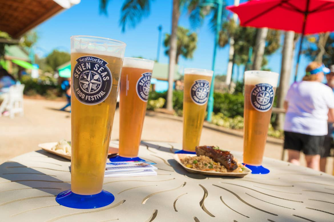 A few glasses of beer steins from SeaWorld® Orlando's Seven Seas Food festival.