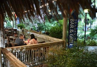 Outdoor seating at Tradewinds Bar & Grill at Orange Lake Resort near Orlando, Florida