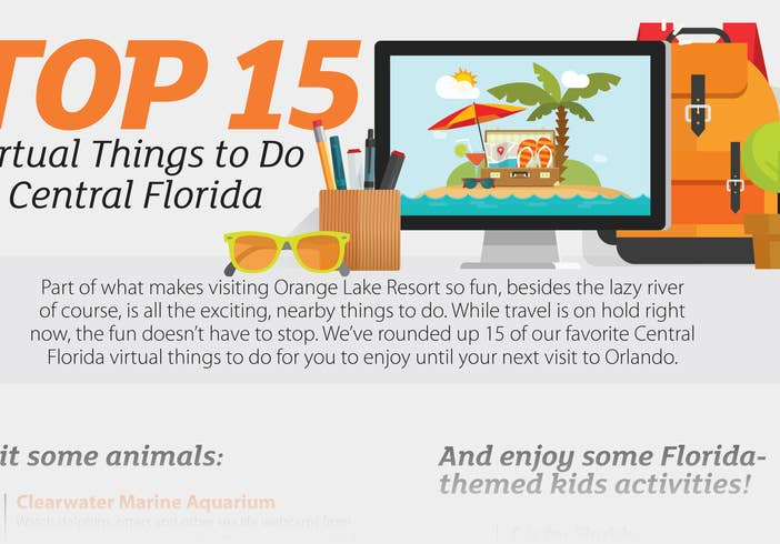 List of top 15 virtual things to do in Central Florida