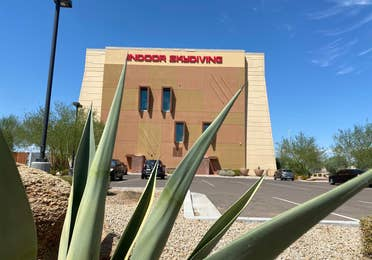 Indoor Skydiving building near Scottsdale Resort.