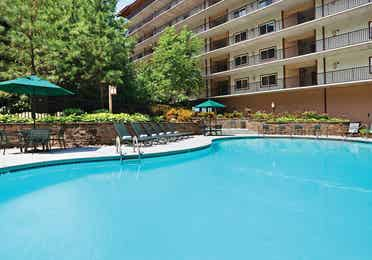 Outdoor pool at Smoky Mountain Resort