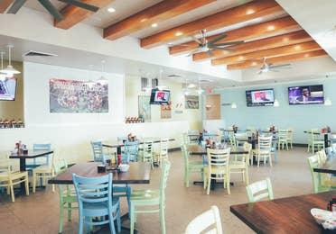 Breezes Restaurant & Bar indoor seating in West Village at Orange Lake Resort near Orlando, Florida