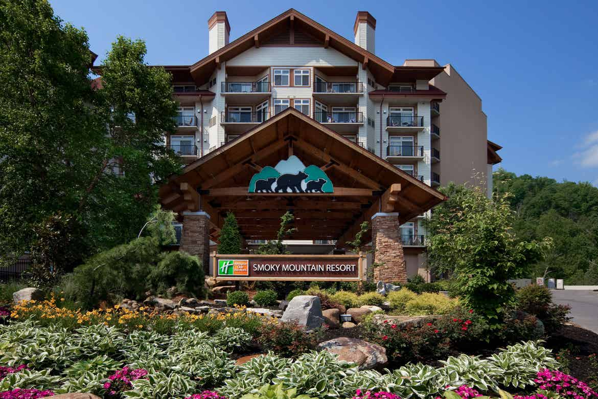 Exterior of our Smoky Mountains resort.