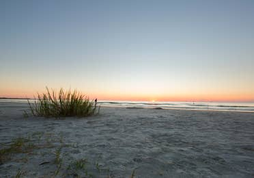 Beach view at sunset from Cape Canaveral Beach Resort