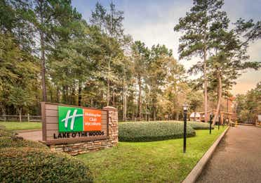 Holiday Inn Club Vacations entrance sign to Lake O' the Woods Resort.