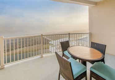 Balcony in a two-bedroom Signature Collection villa at Galveston Seaside Resort