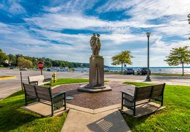 Downtown Lake Geneva by Lake Geneva Resort in Wisconsin.