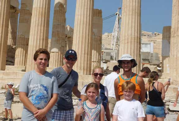 Family vacation at the Acropolis