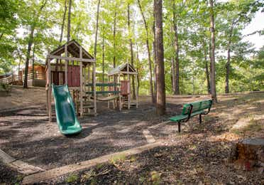 Outdoor children's playground at Ozark Mountain Resort in Kimberling City, Missouri