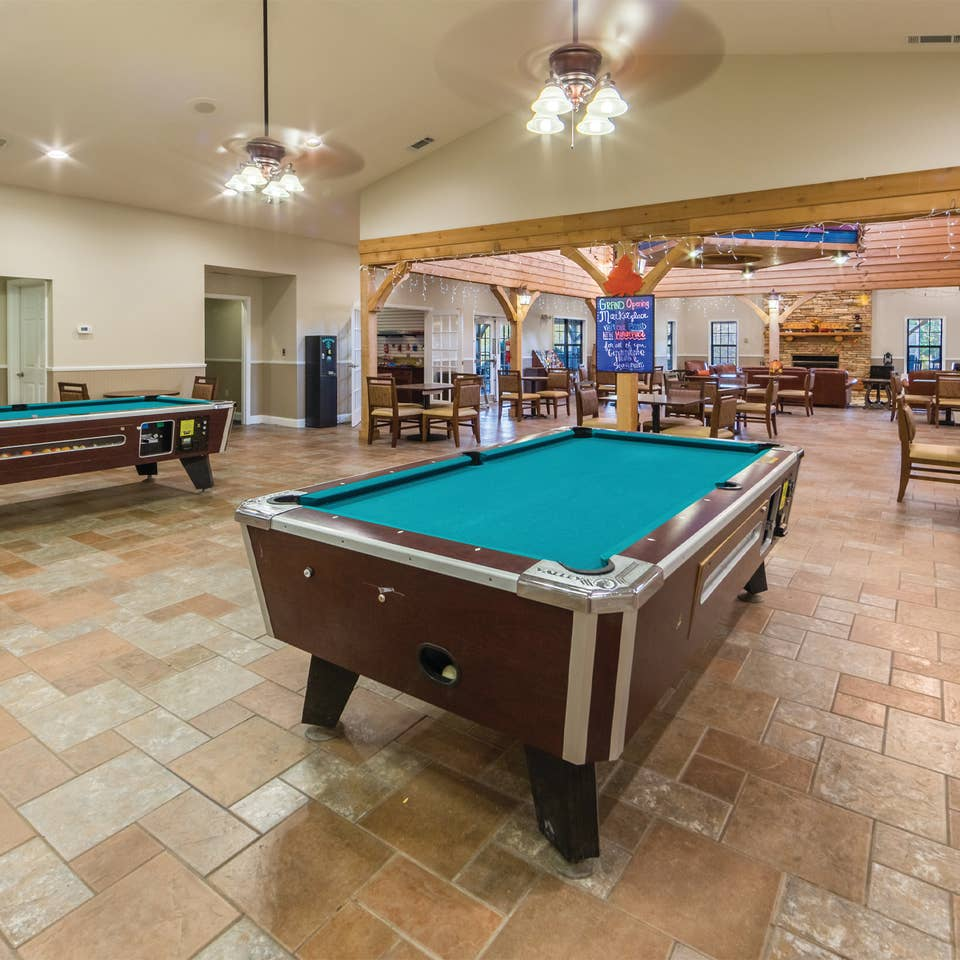 Activity center at Apple Mountain Resort in Clarkesville, GA