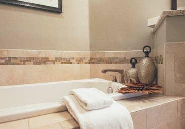 Soaking bathtub in a three bedroom villa in West Village at Orange Lake Resort near Orlando, FL