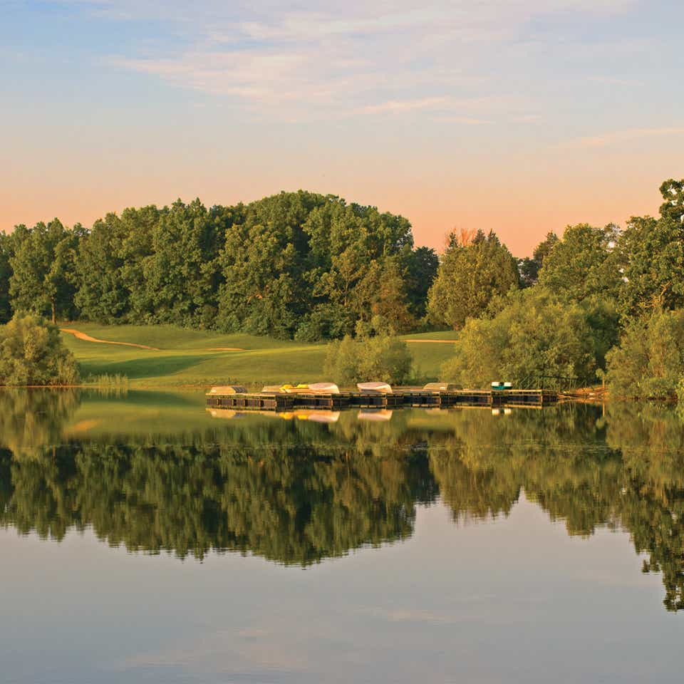 Golf course at Timber Creek Resort in De Soto, Missouri.