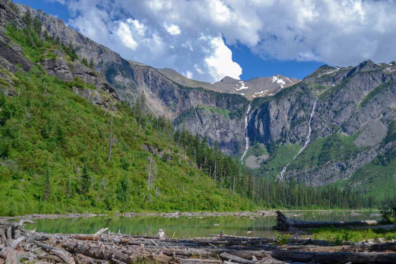 Glacier Lake and summit at Glacier National Park.