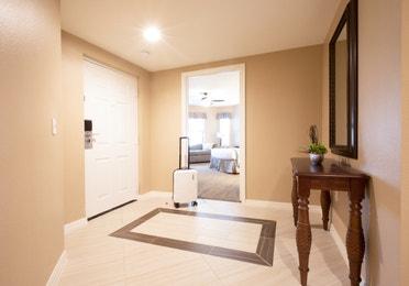 Entrance of three bedroom villa in North Village at Orange Lake Resort near Orlando, Florida