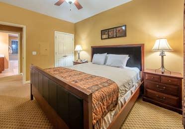Bedroom in a two-bedroom villa at David Walley's Resort in Genoa, Nevada