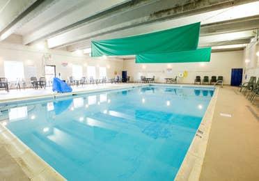 Indoor pool at Oak n' Spruce Resort in South Lee, Massachusetts
