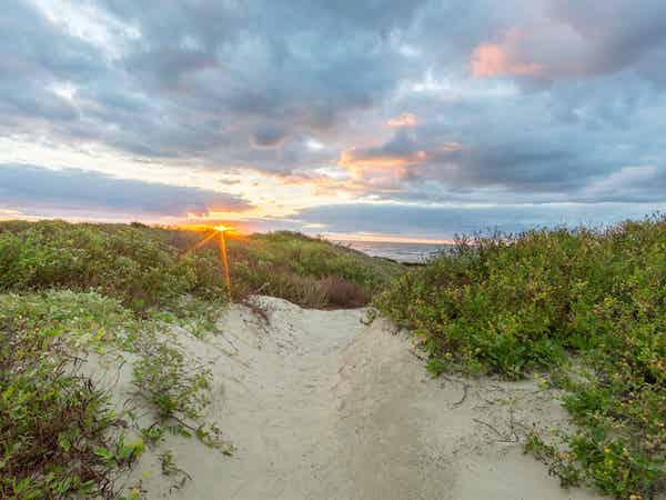 Sunrise at the beach near Galveston Beach Resort
