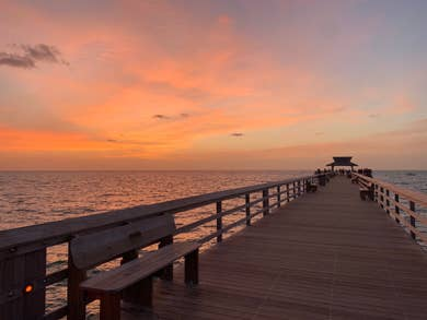 Gorgeous sunset photo from the pier.