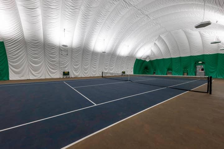 Indoor tennis court at Tahoe Ridge Resort in Stateline, Nevada.