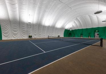 Indoor tennis court at Tahoe Ridge Resort in Stateline, NV