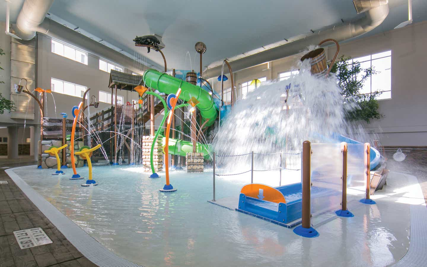 Inside Splash Hollow at Smoky Mountain Resort