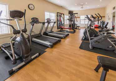 Fitness center at Apple Mountain Resort in Clarkesville, GA