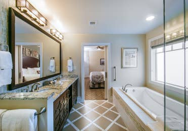 Bathroom in a three-bedroom Signature Collection villa at South Beach Resort