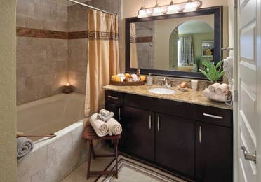 Bathroom in a two-bedroom villa at Desert Club Resort