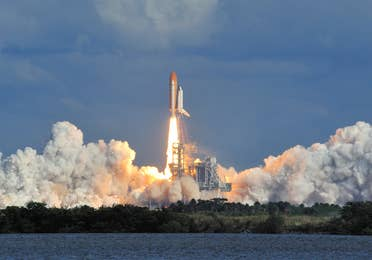 Rocket launch near Cape Canaveral Beach Resort.