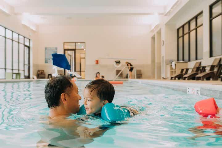 An indoor pool at Williamsburg Resort